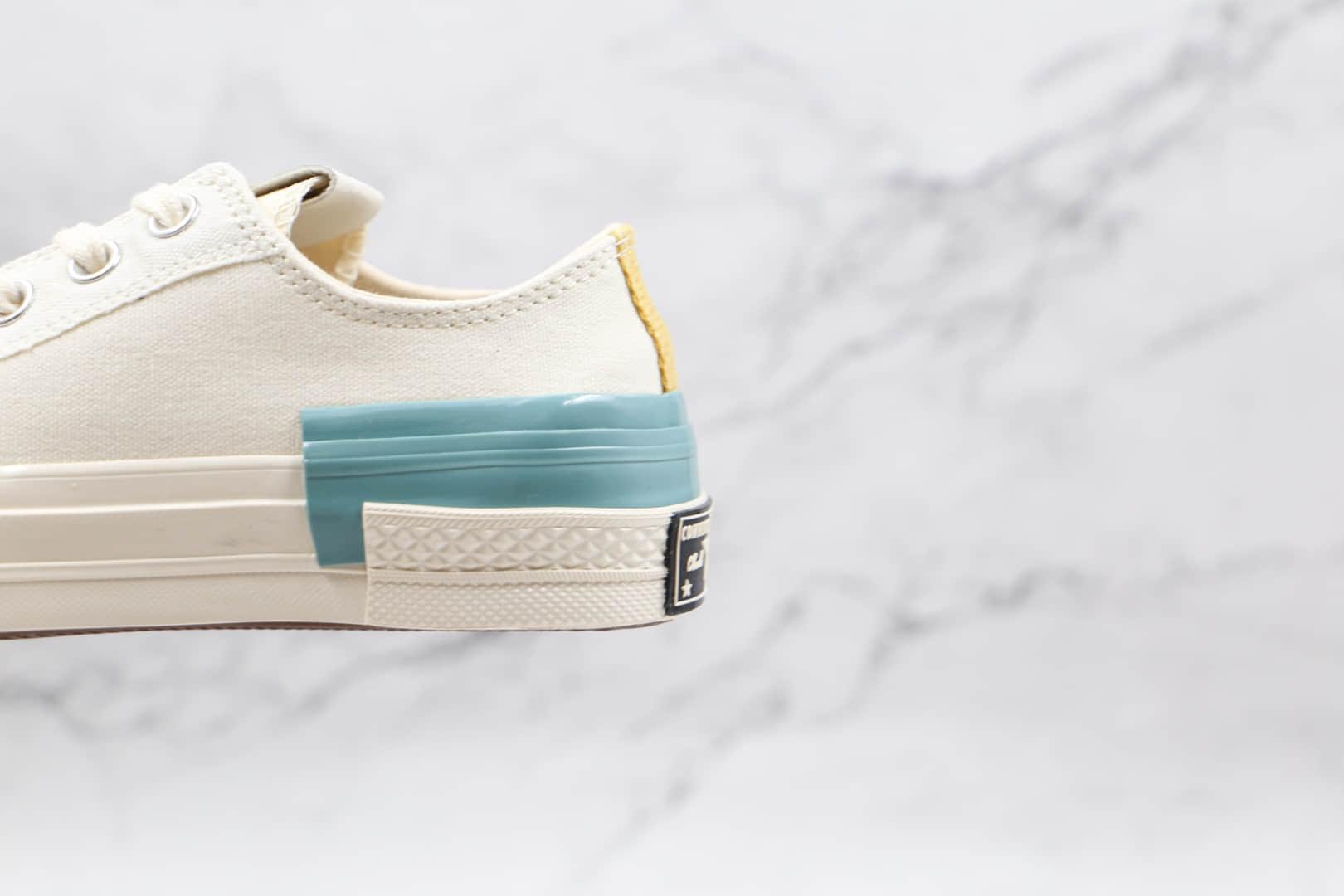 匡威CONVERSE Chuck 70公司级版本低帮七巧板拼接撞色硫化帆布鞋原厂硫化大底原盒原标