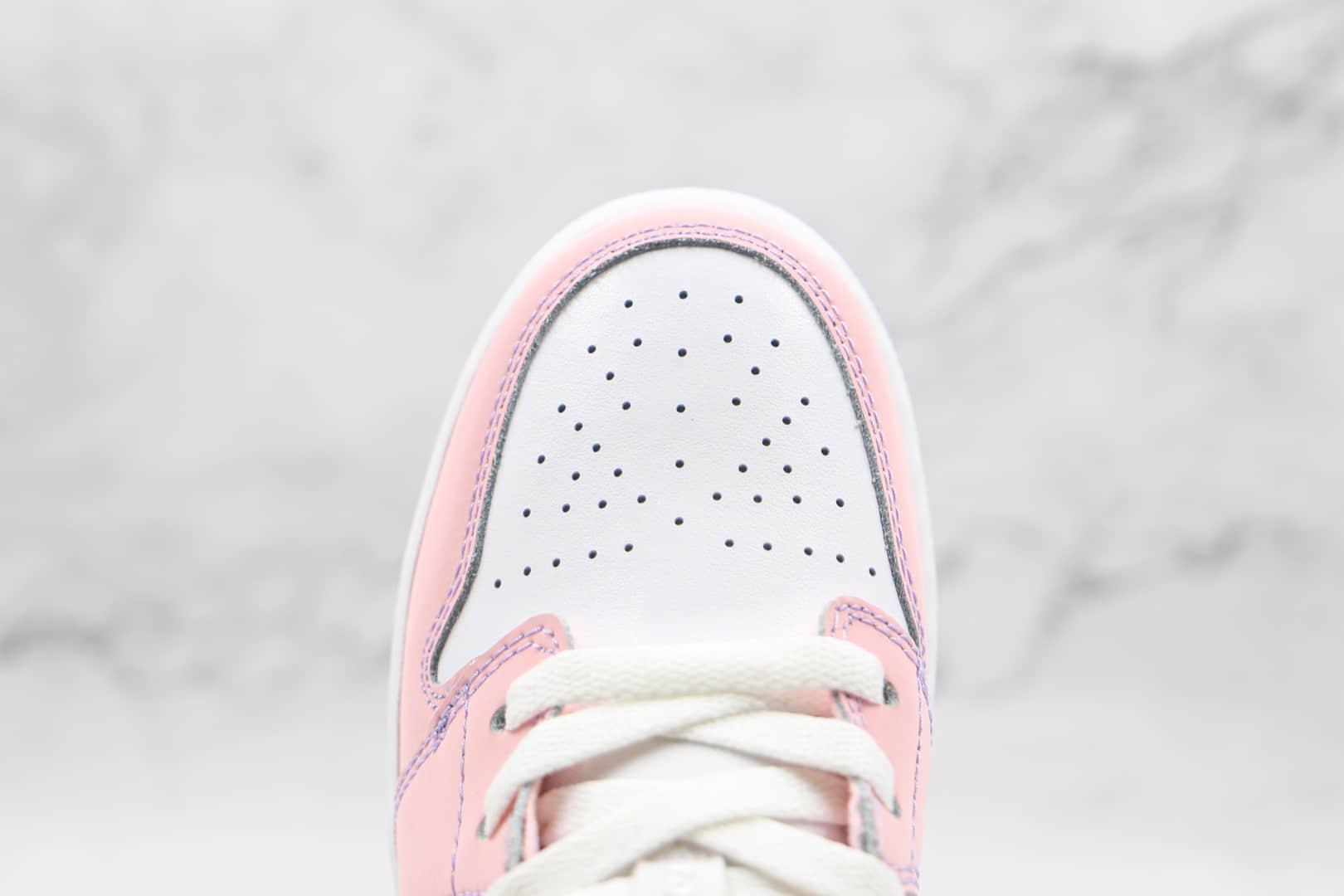 乔丹Air Jordan 1 Low纯原版本低帮AJ1白粉紫板鞋原楦头纸板打造原盒原标 货号:CV9844-600