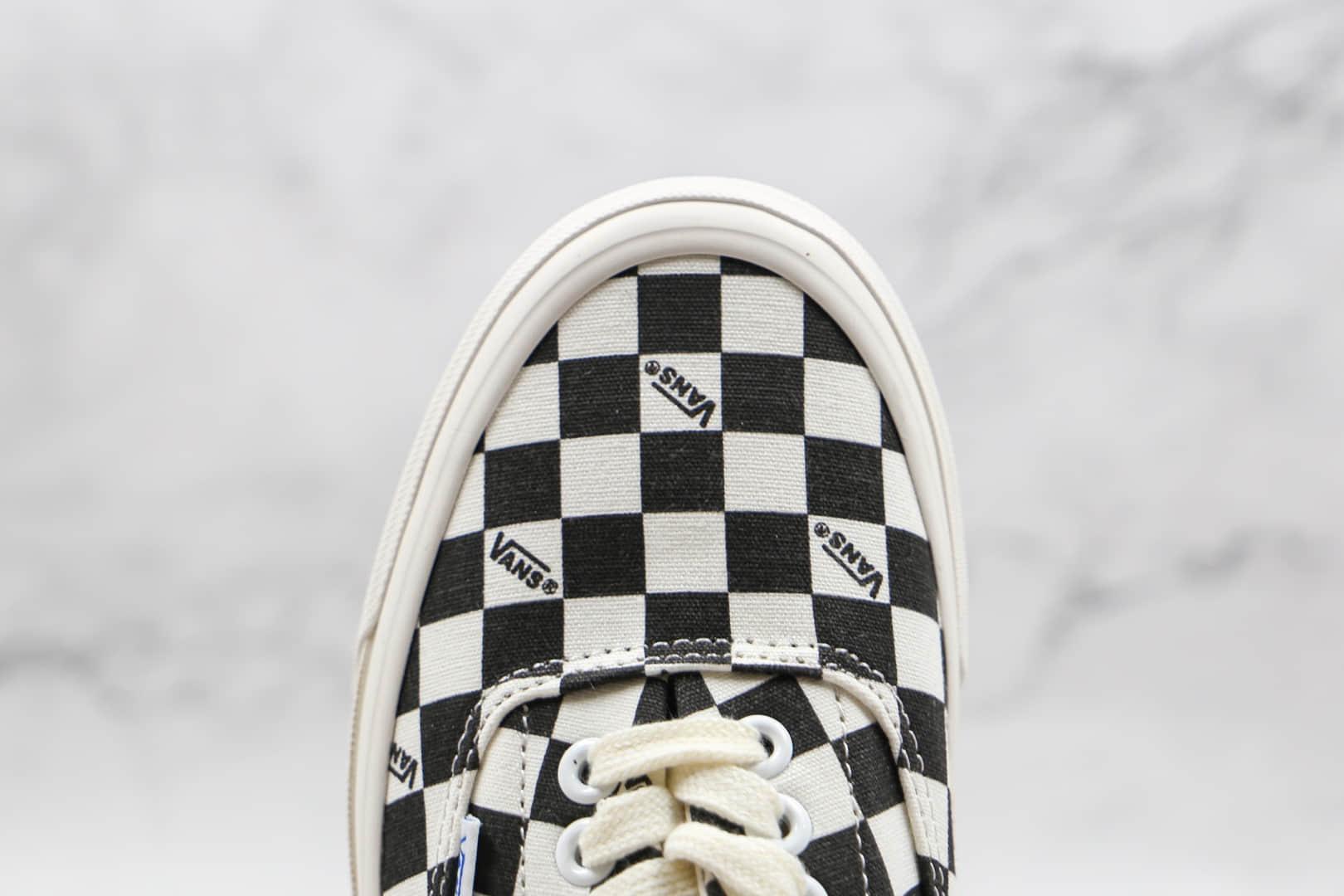 万斯Vans Vaul OG Era LX公司级版本低帮黑色棋盘格硫化帆布鞋原厂硫化大底