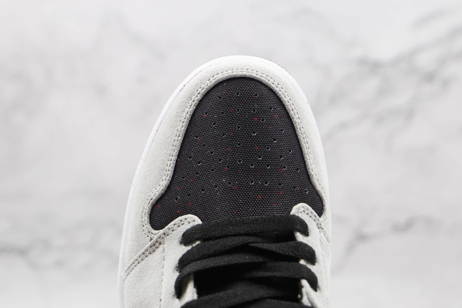 乔丹Air Jordan 1 Low Crater Releasing Soon纯原版本低帮AJ1灰色绒面可回收材料板鞋原楦头纸板打造 货号:DM4657-001