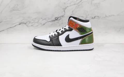 乔丹Air Jordan 1 Mid heat-reactive纯原版本中帮AJ1黑白炫彩热成像镭射炫彩尾板鞋原盒原标 货号:DM7802-100