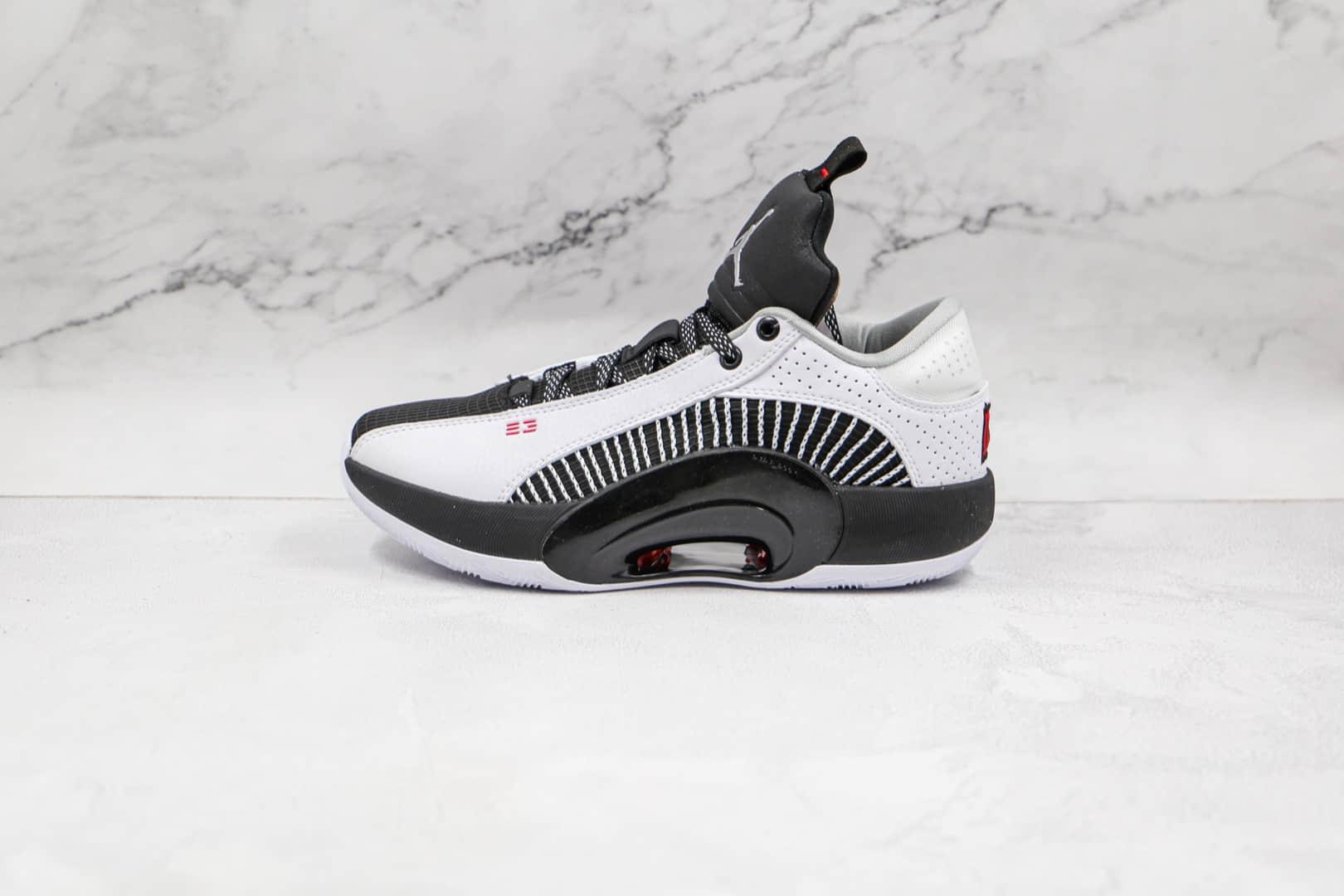 乔丹AIR JORDAN XXXV LOW纯原版本黑白色AJ35代篮球鞋内置Zoom气垫支持实战 货号:CW2459-101