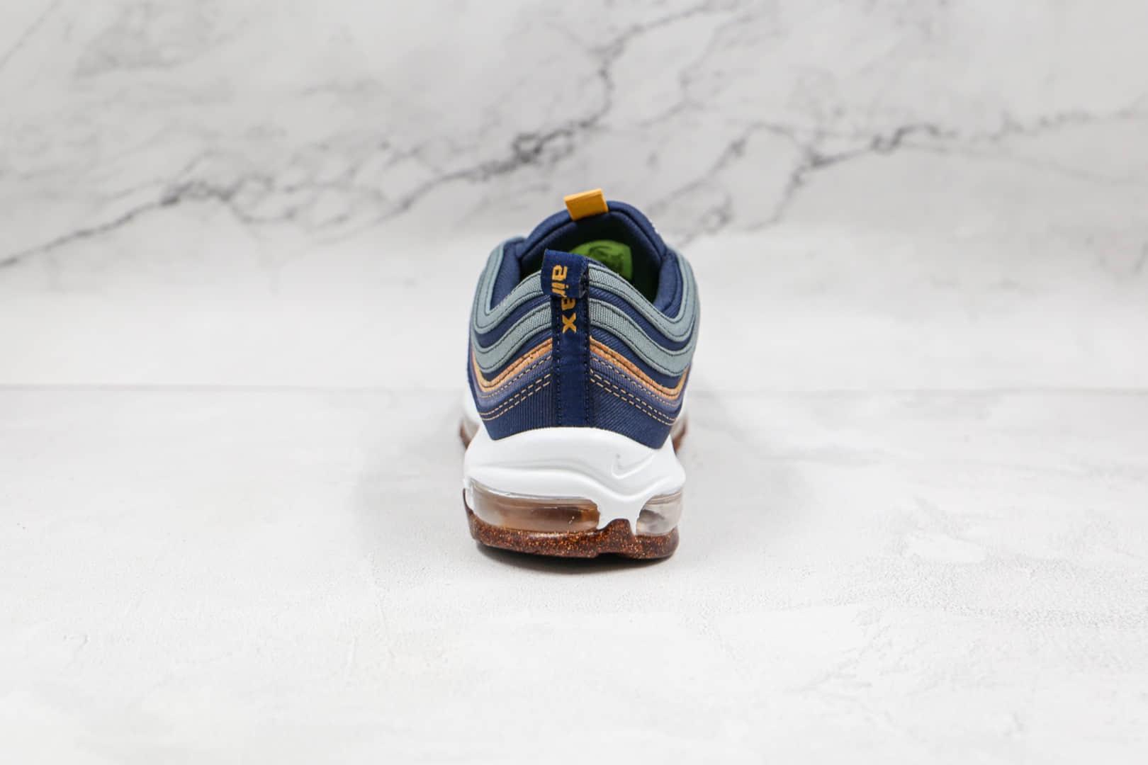 耐克Nike Air Max 97 Cork纯原版本子弹头Max97软木蓝色气垫鞋原楦头纸板打造 货号:DC3986-300