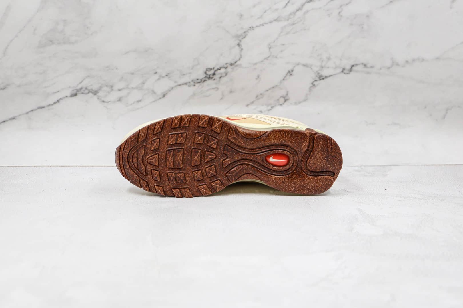 耐克Nike Air Max 97纯原版本子弹头Max97软木米黄色气垫鞋原档案数据开发 货号:DC3986-100