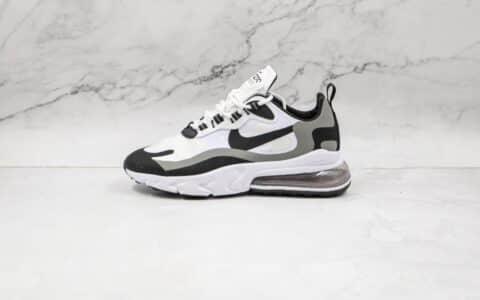耐克Nike React Air Max 270V2纯原版本半掌气垫Max270黑白色气垫鞋原楦头纸板打造 货号:CT1264-101