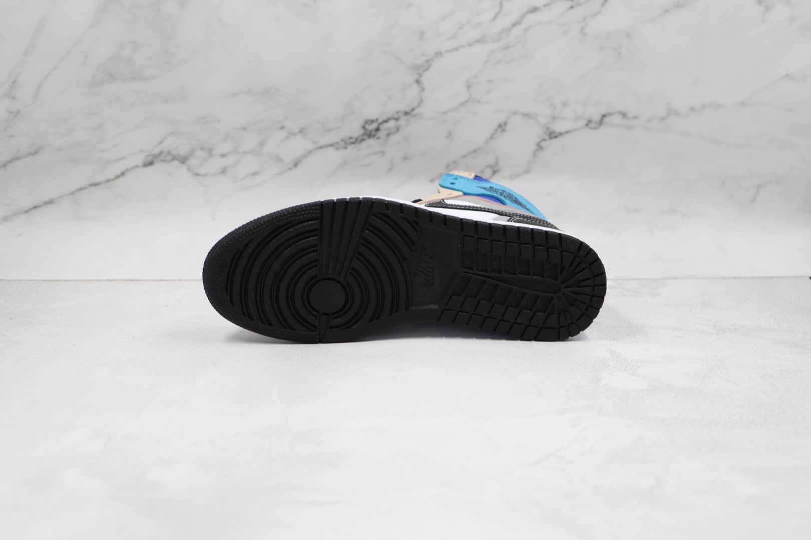 乔丹Air Jordan 1 High OG Prototype纯原版本高帮AJ1米白蓝黑色拼接板鞋原楦头纸板打造 货号:DC6515-100
