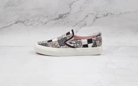 万斯Vans Meadow Patchwork公司级版本低帮小碎花拼布格纹拼接一脚蹬硫化帆布鞋原盒原标