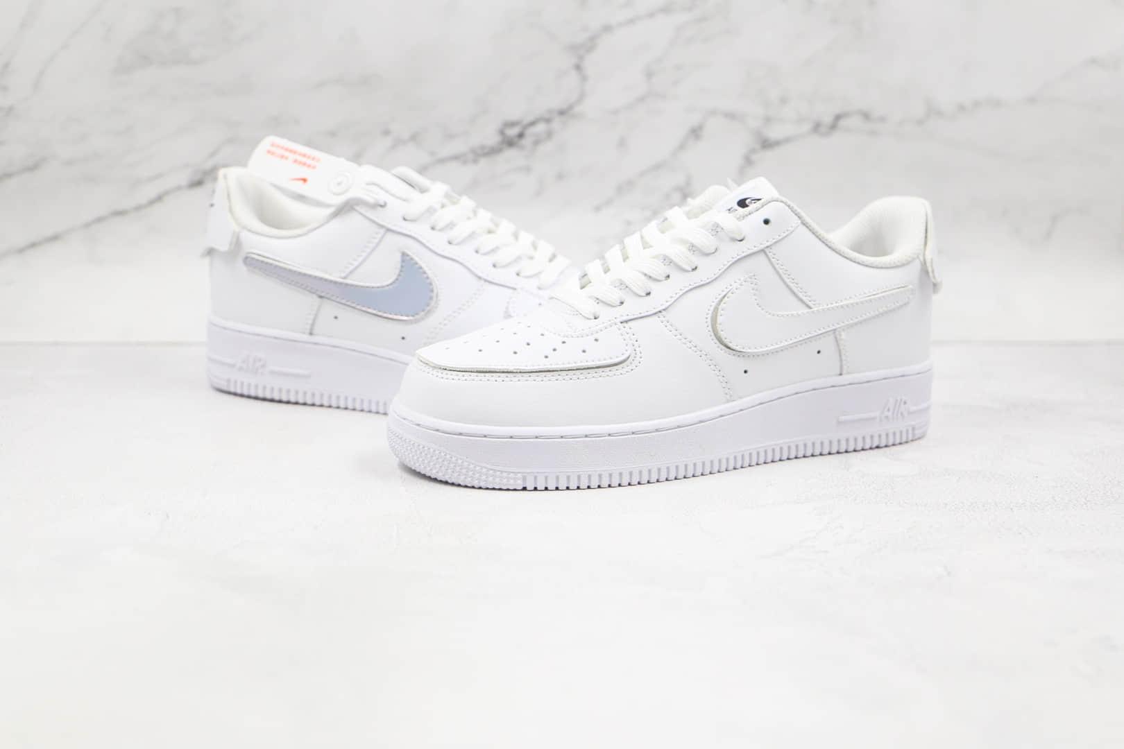 耐克Nike Air Force 1 Low AF1 1纯原版本低帮空军一号拆卸魔术钩白色板鞋内置气垫 货号:DB2812-100