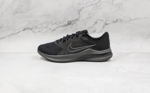 耐克NiKe Downshifter 11纯原版本登月11代黑色网面透气跑步鞋原楦头纸板打造 货号:CW3411-002
