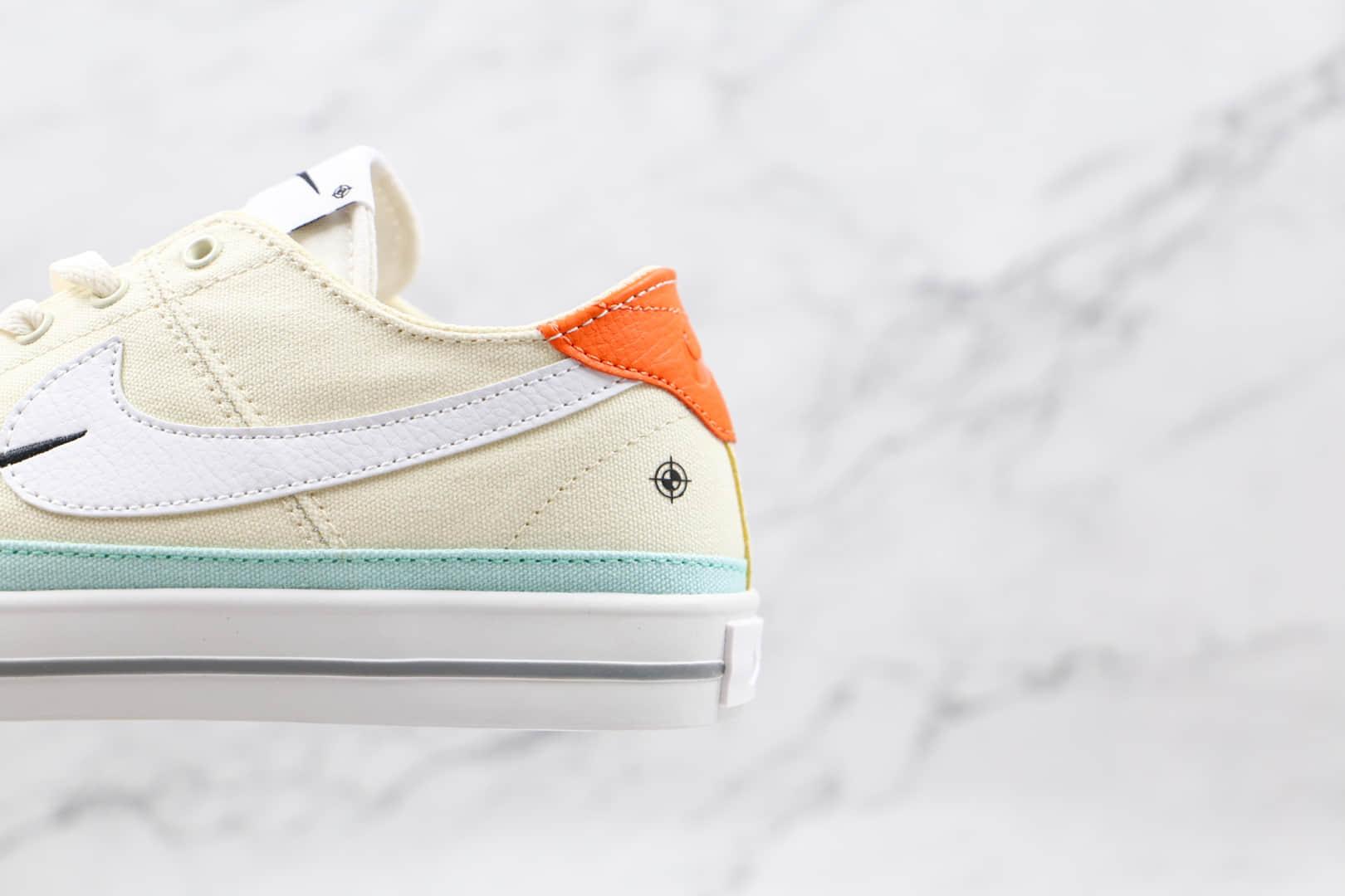 耐克Nike Court Legacy纯原版本帆布椰奶色内侧字母款复古板鞋原档案数据开发 货号:DJ5207-113