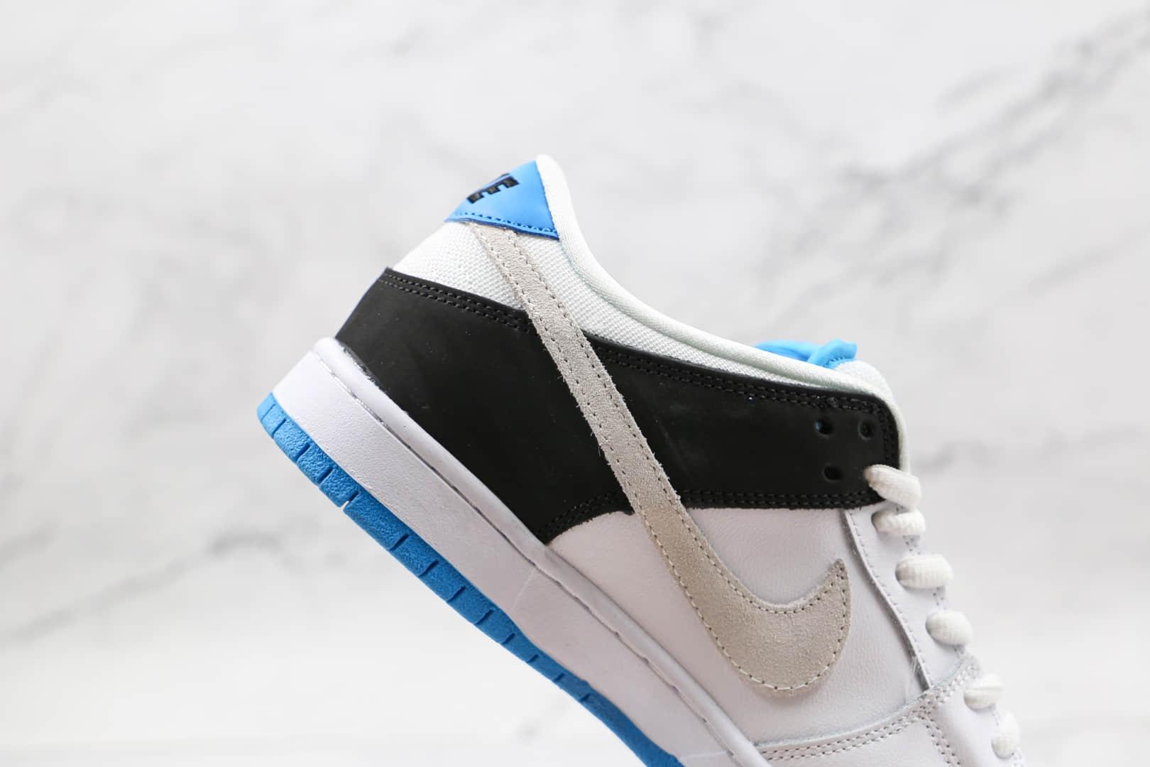 耐克Nike DUNK SB Laser Blue纯原版本低帮SB DUNK白蓝黑色拼色板鞋内置气垫 货号:BQ6817-101