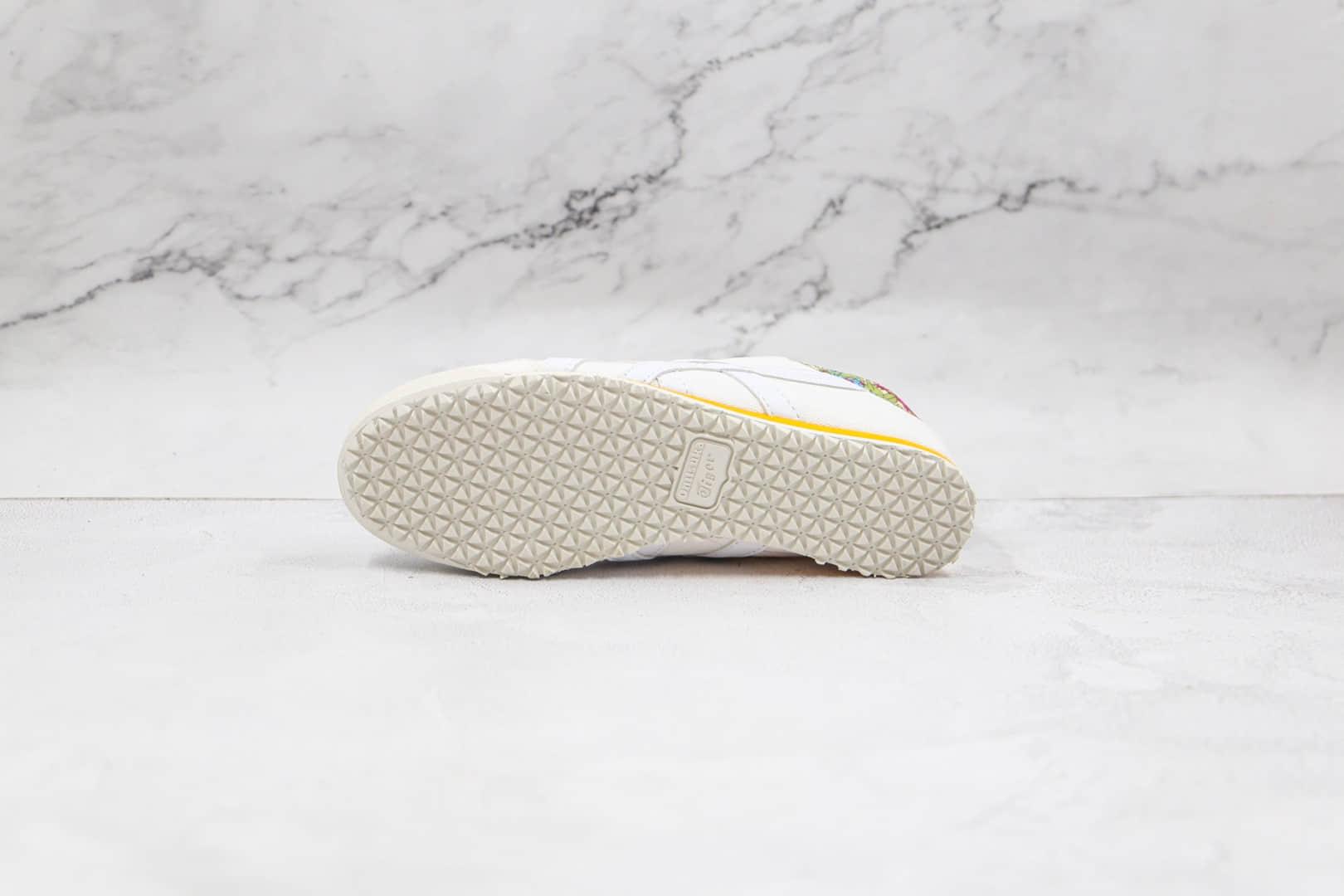 亚瑟士Onitsuka tiger公司级版本鬼冢虎一脚蹬白黄色印花帆布鞋原楦头纸板打造 货号:1182A070-100