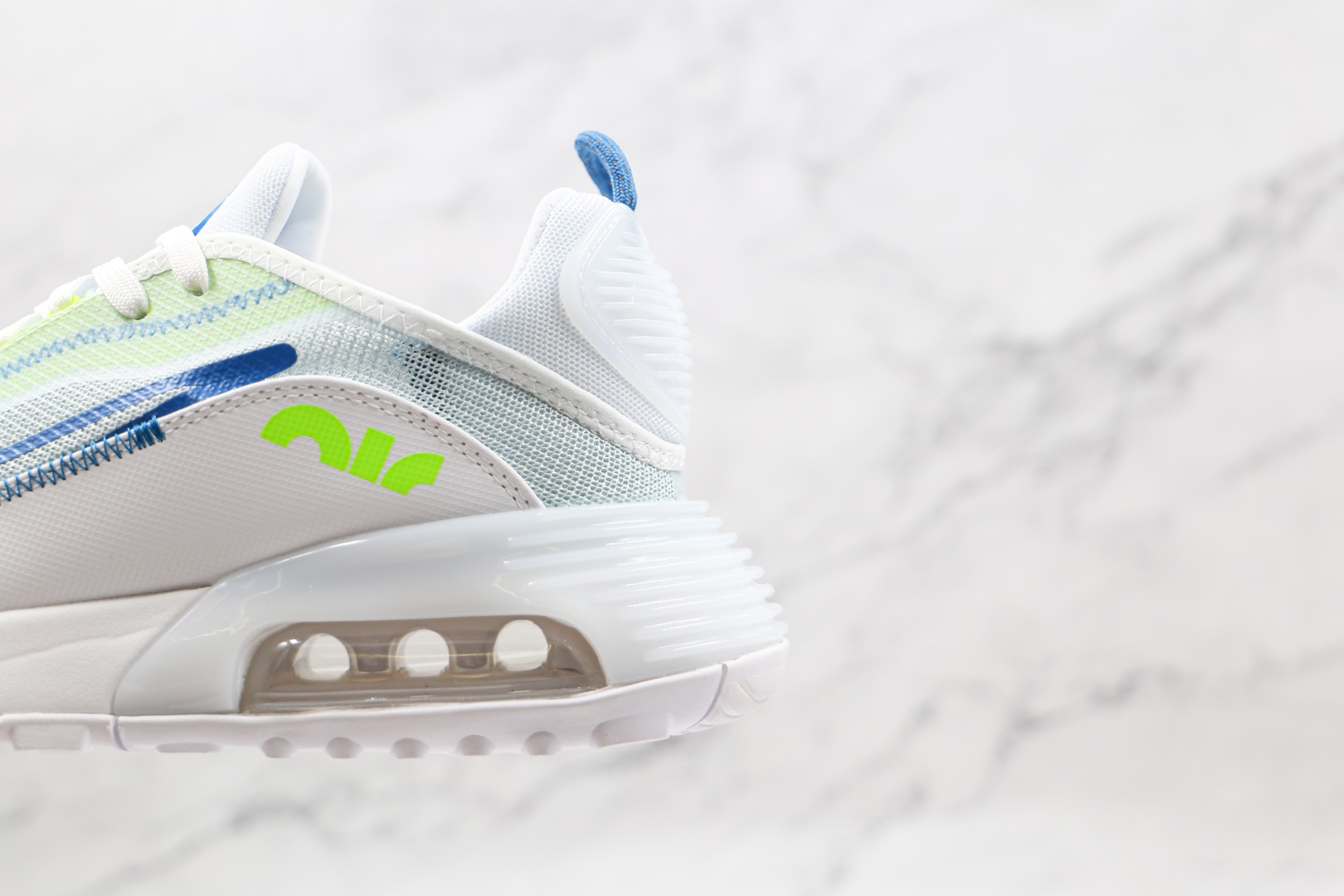 耐克Nike Air Max 2090纯原版本半掌气垫Max270白绿色网面气垫鞋原楦头纸板打造 货号:CZ1708-002