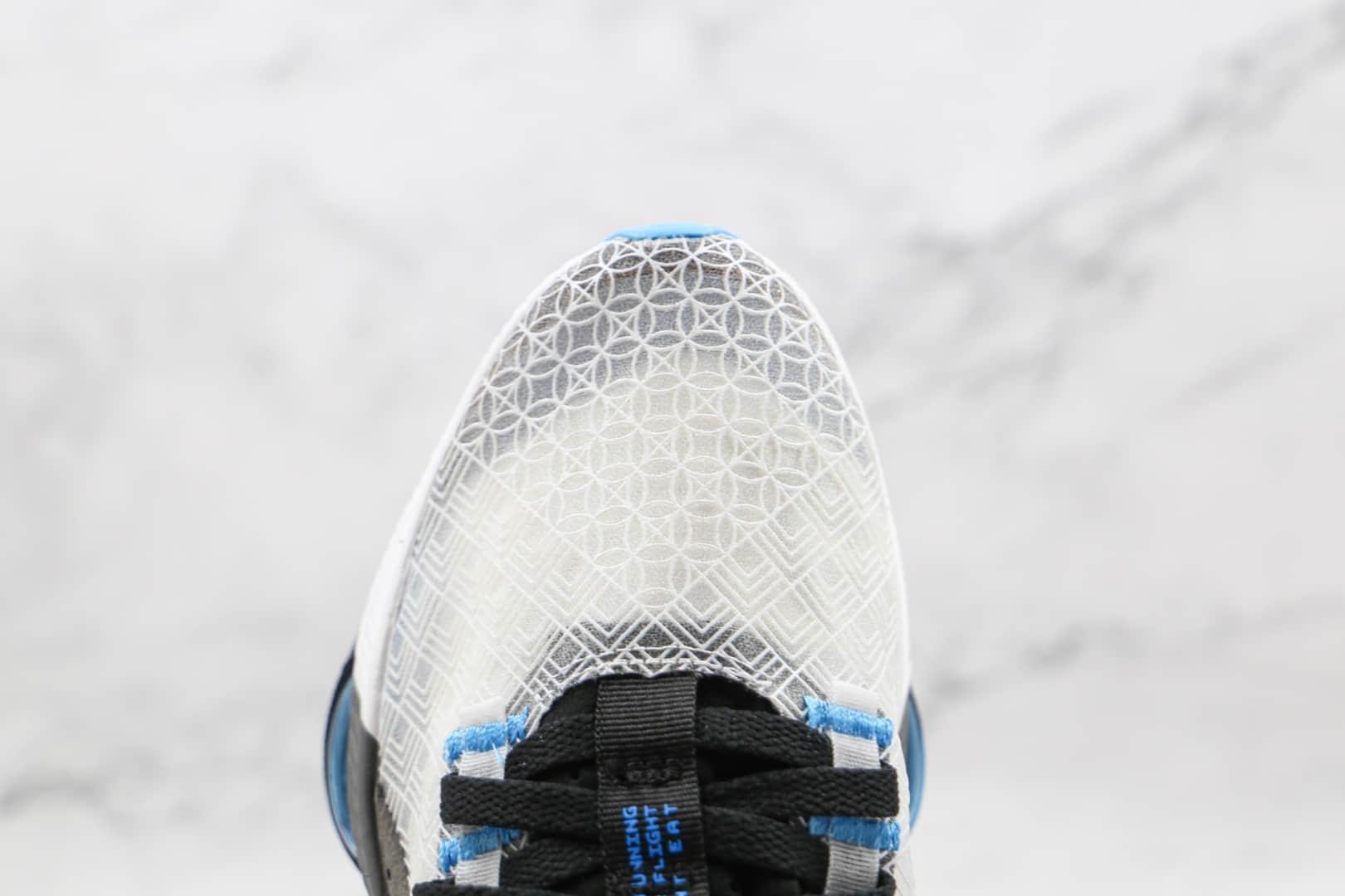 乔丹Air Jordan zoom renegade纯原版本半透明白灰色蝉翼跑鞋原楦头纸板打造 货号:CJ5383-101