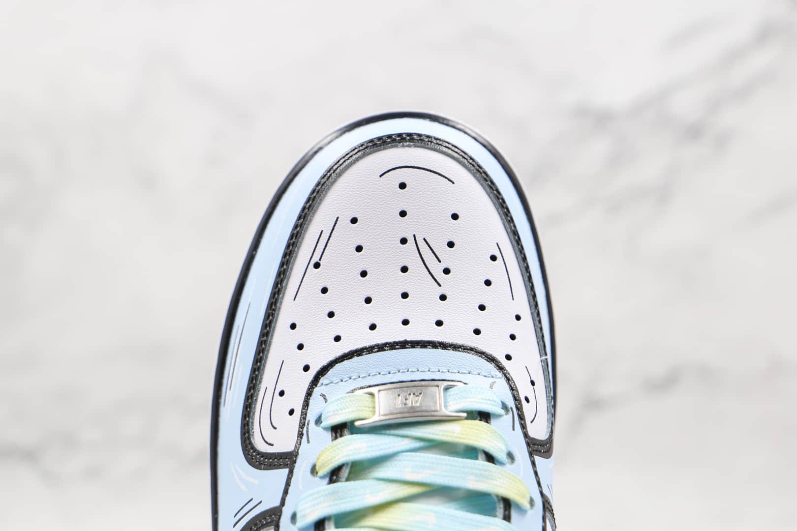 耐克Nike Air Force 1 Low 07纯原版本低帮空军一号冰雪奇缘二次元主题涂鸦配色板鞋内置气垫 货号:CW2288-212