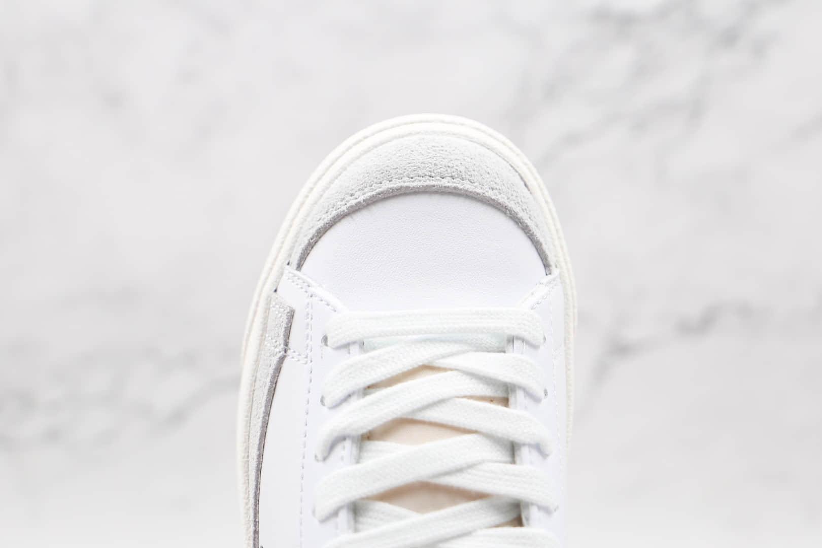 耐克Nike Blazer Low '1977 VNTG纯原版本低帮开拓者白黑色板鞋原盒原标 货号:DC4769-102