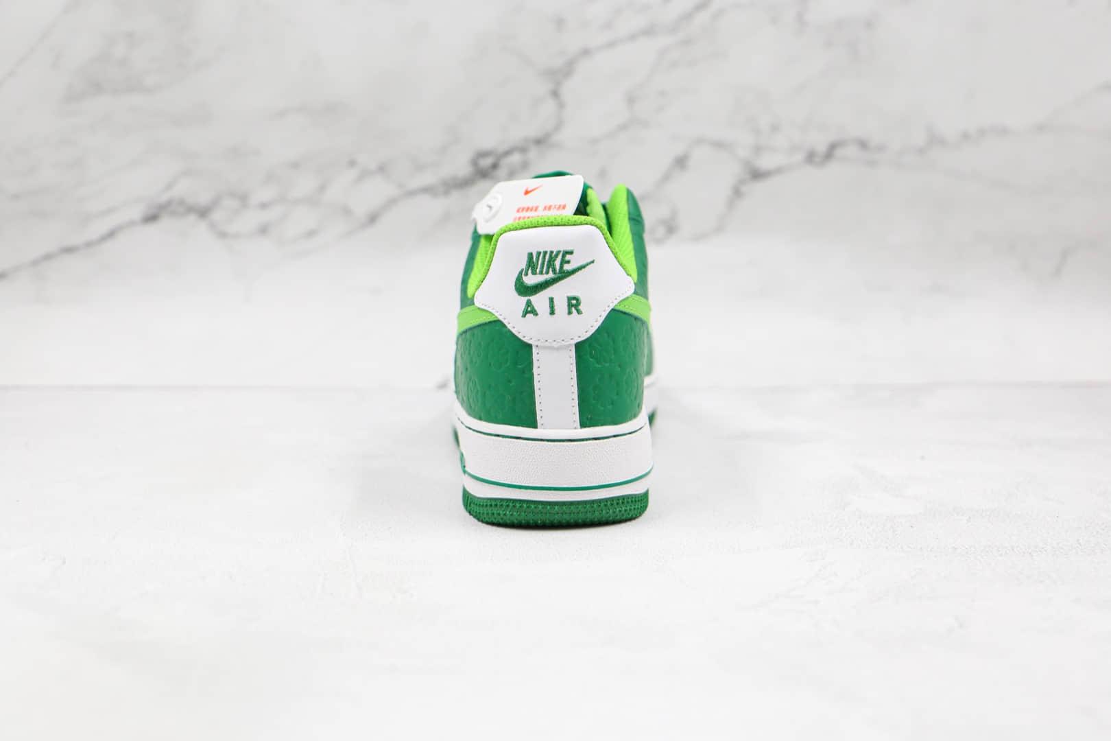 耐克Nike Air Force 1 St. Patrick's Day纯原版本低帮空军一号圣帕特里克节四叶草美洲限定白绿板鞋内置气垫 货号:DD8458-300