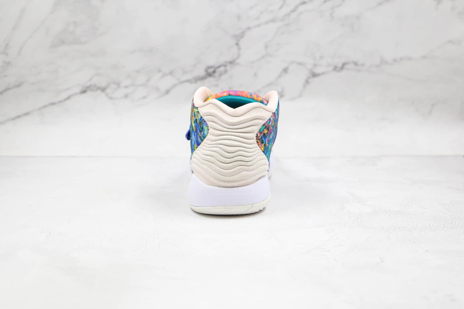 耐克Nike Zoom KD 14纯原版本杜兰特14代扎蓝色染配色实战篮球鞋内置气垫 货号:CZ0170-400