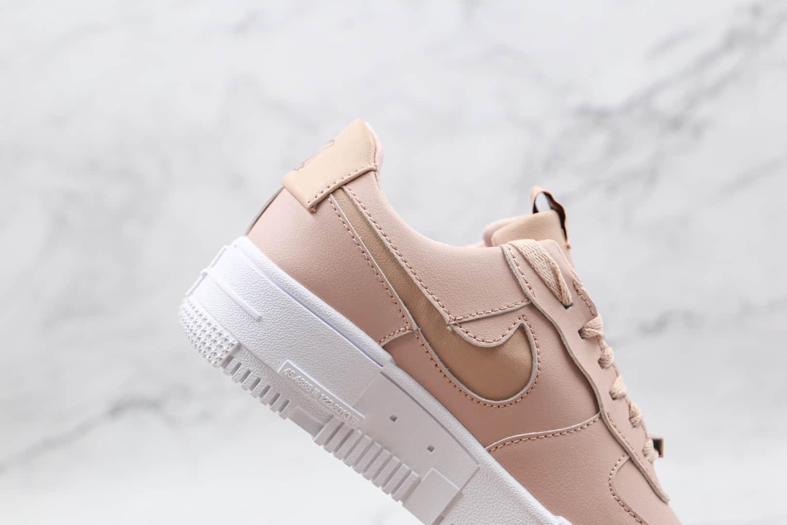 耐克Nike AIR FMRCE 1纯原版本低帮空军一号藕粉色解构板鞋内气气垫 货号:CK6649-002