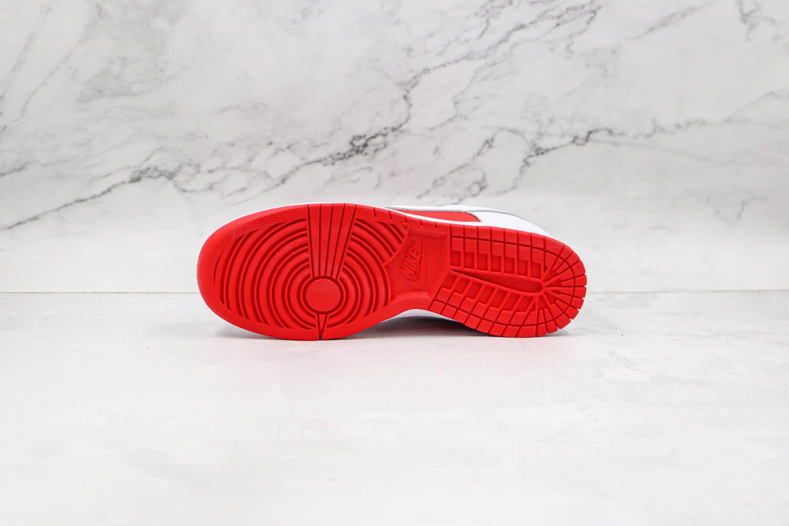 耐克Nike Dunk Low University Red纯原版本低帮DUNK大学红板鞋原楦头纸板打造 货号:DD1391-600