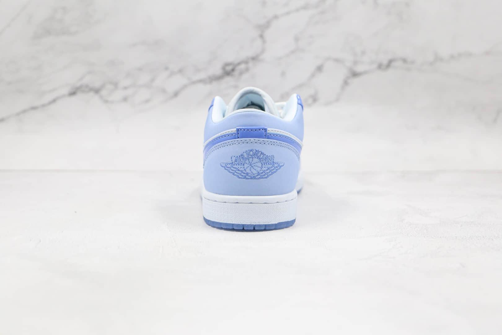 乔丹Air Jordan 1 Low Mighty Swooshers纯原版本低帮AJ1蓝色动漫板鞋原楦头纸板打造 货号:DM5442-040