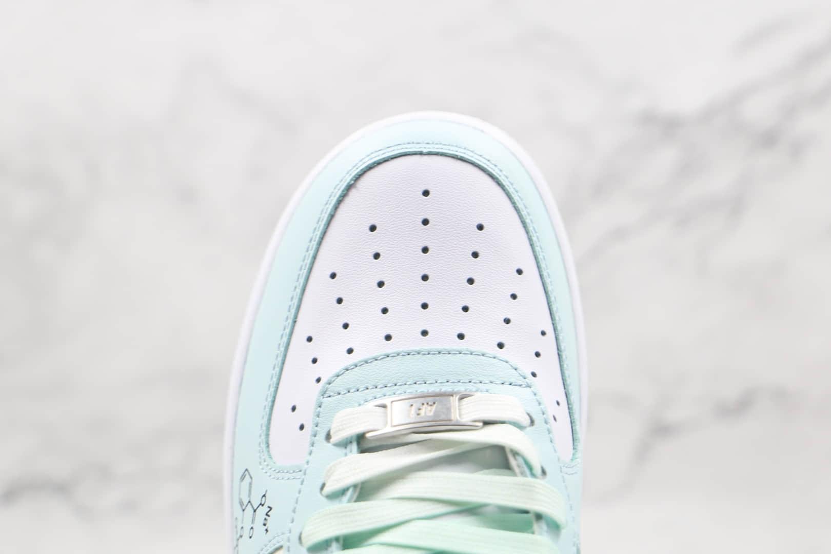 耐克Nike Air Force 1 Low'07纯原版本低帮空军一号化学公式二次元主题蓝白色板鞋内置气垫 货号:CW2288-303