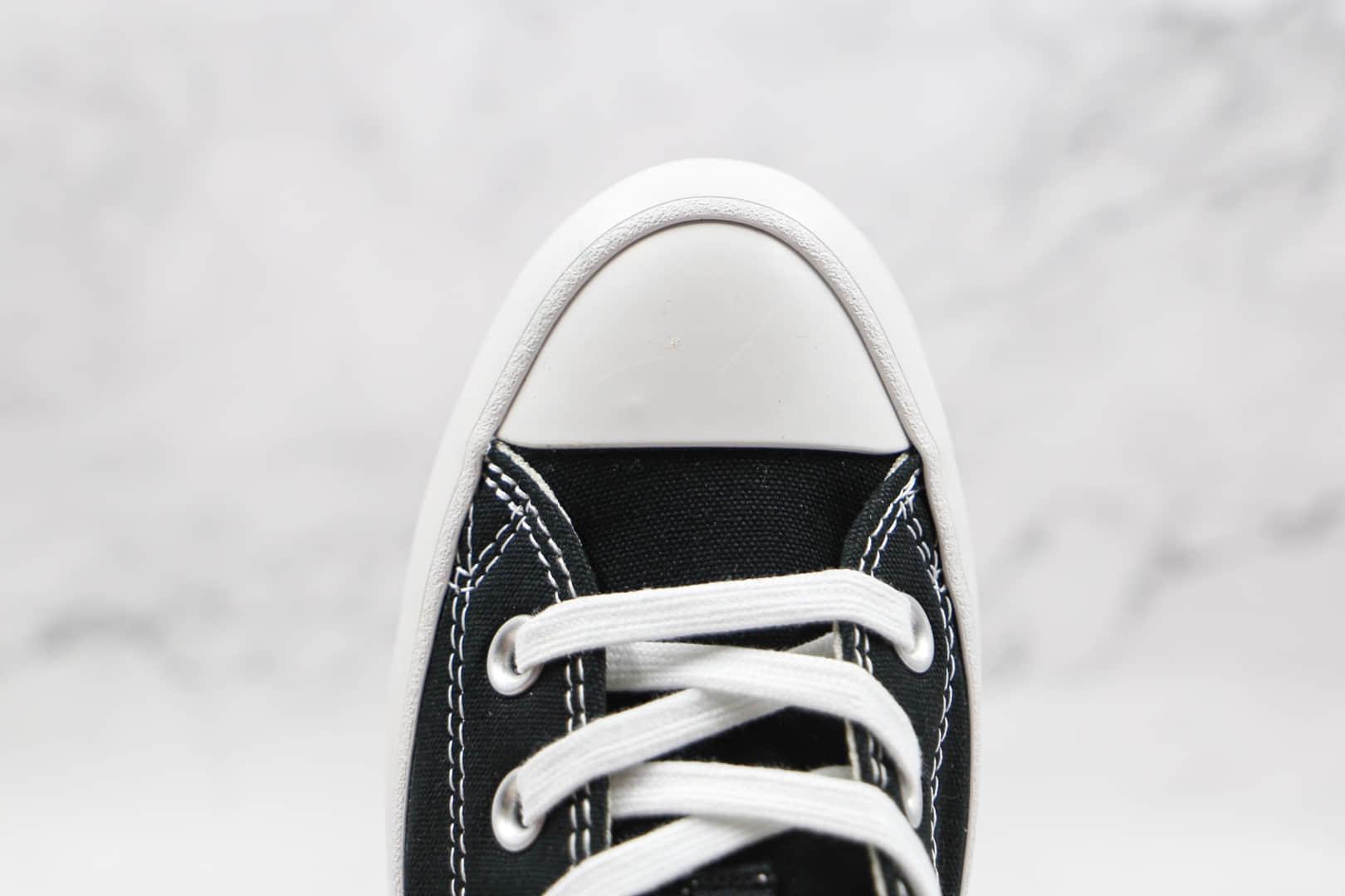 匡威Converse Chuck Taylor All Star Lugged move ox公司级版本厚底黑白色增高鞋原楦头纸板打造