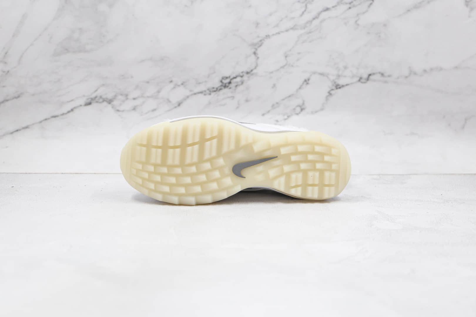 耐克Nike Air Max 97 Golf纯原版本高尔夫子弹Max97纯白毛绒气垫鞋原盒原标 货号:CK4437-101