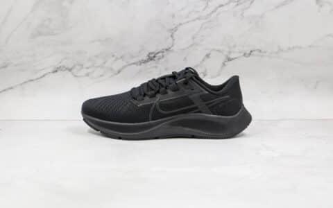 耐克Nike Air Zoom Pegasus 38纯原版本登月38代纯黑色慢跑鞋原档案数据开发 货号:CW7356-001
