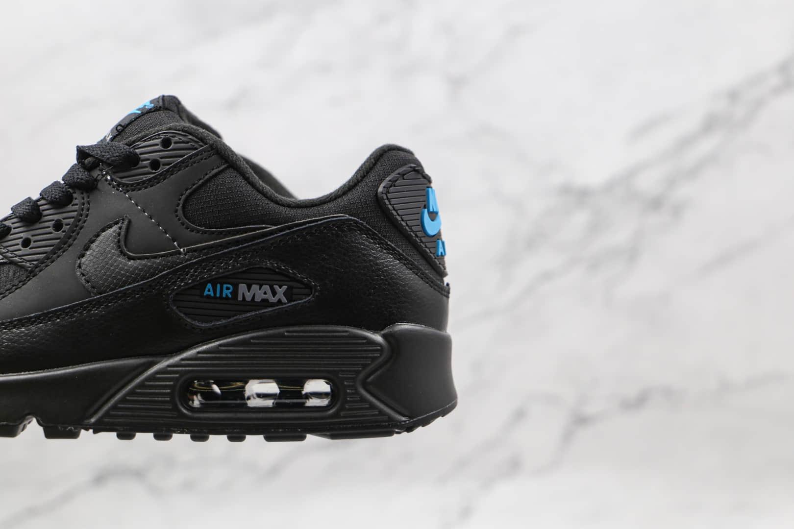 耐克Nike Air Max 90 Black纯原版本黑蓝色Max90三十周年纪念款气垫鞋原档案数据开发 货号:DC4116-002