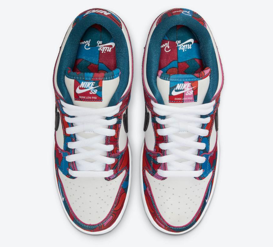 视觉抢眼!全新Parra x Nike SB Dunk Low月底发售! 货号:DH7695-600