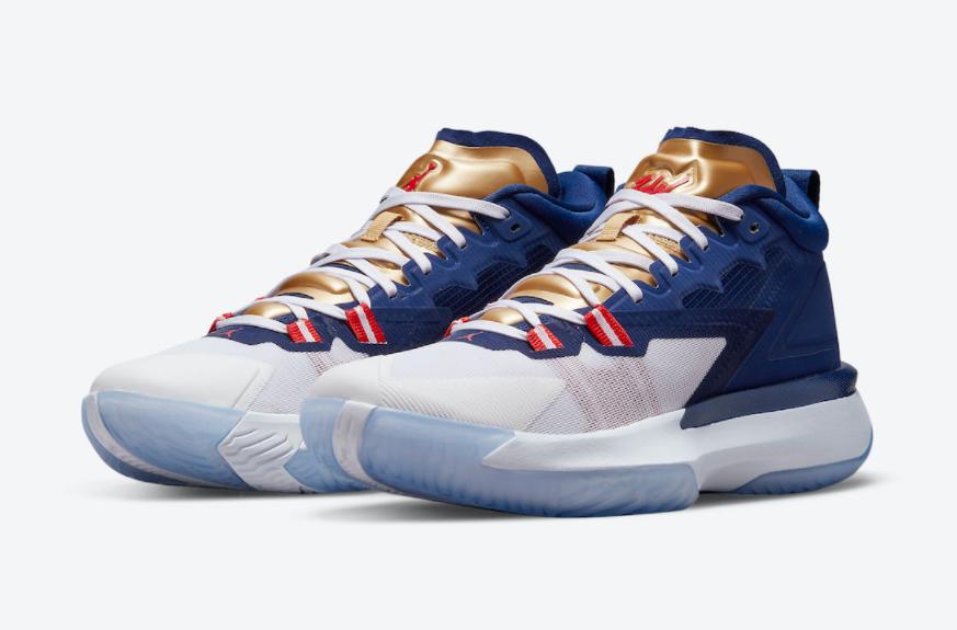 美国队配色!全新锡安战靴Jordan Zion 1即将登场! 货号:DA3130-401