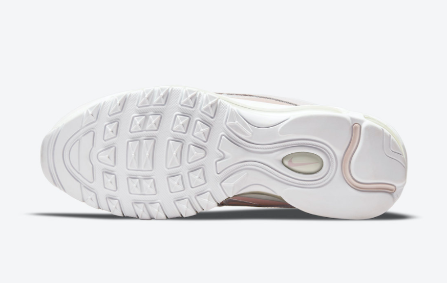 粉白少女心!复古跑鞋Nike Air Max 97新配色即将登场! 货号:DJ3874-600