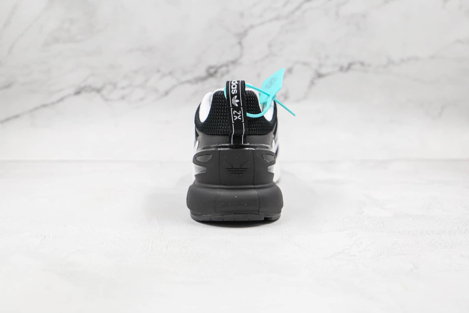 阿迪达斯Adidas Originals ZX 2K Boost 2.0纯原版本黑白色ZX 2K二代爆米花跑鞋原楦头纸板打造 货号:GZ9081