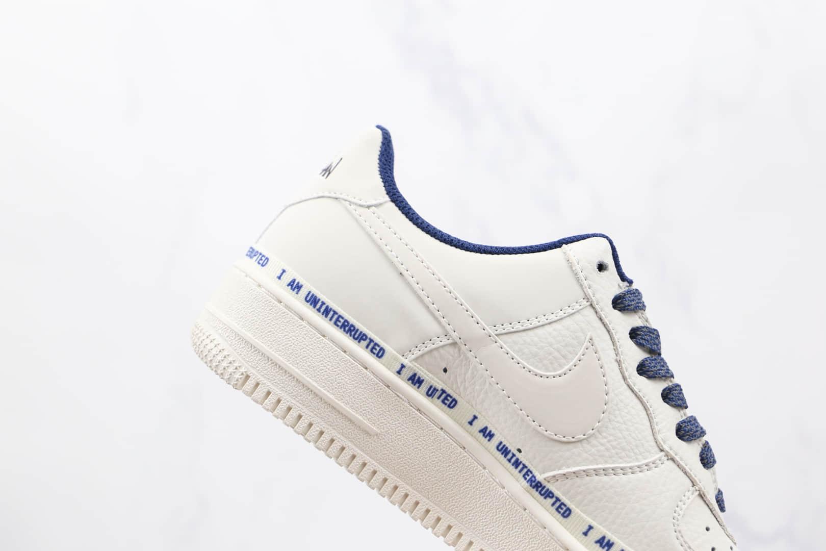 耐克Nike Air Forece 1 MORE THAN x Uninterrupted联名款纯原版本低帮空军一号白蓝色满天星3M签名涂鸦板鞋原盒原标 货号:NU6602-301