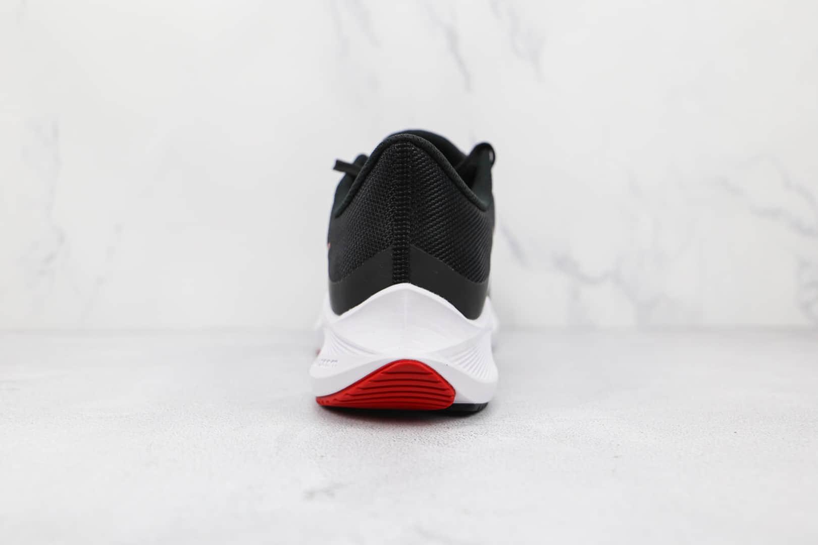 耐克Nike Winflo 8纯原版本温弗罗八代黑红色线条慢跑鞋原楦头纸板打造 货号:CW3419-003