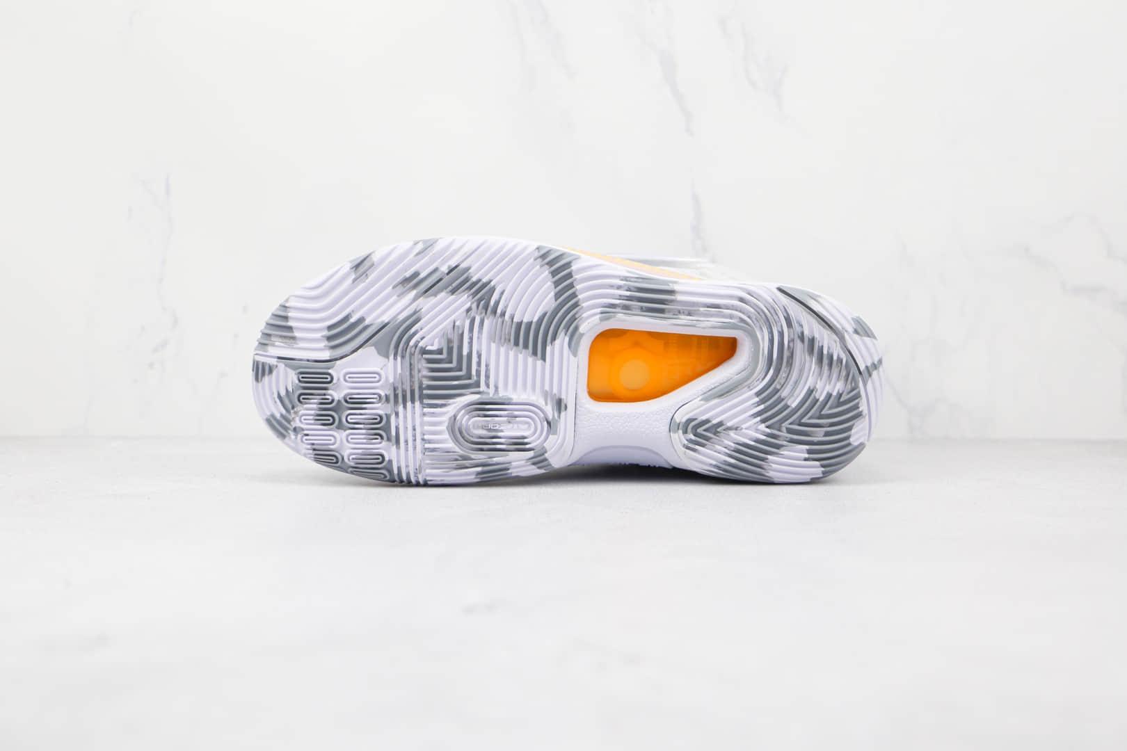 耐克Nike Zoom KD 14纯原版本杜兰特14代白灰色篮球鞋原楦头纸板打造支持实战 货号:CZ0170-100