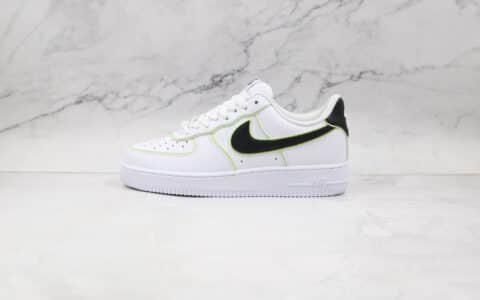 纯原版本耐克低帮空军一号白黑绿色板鞋出货