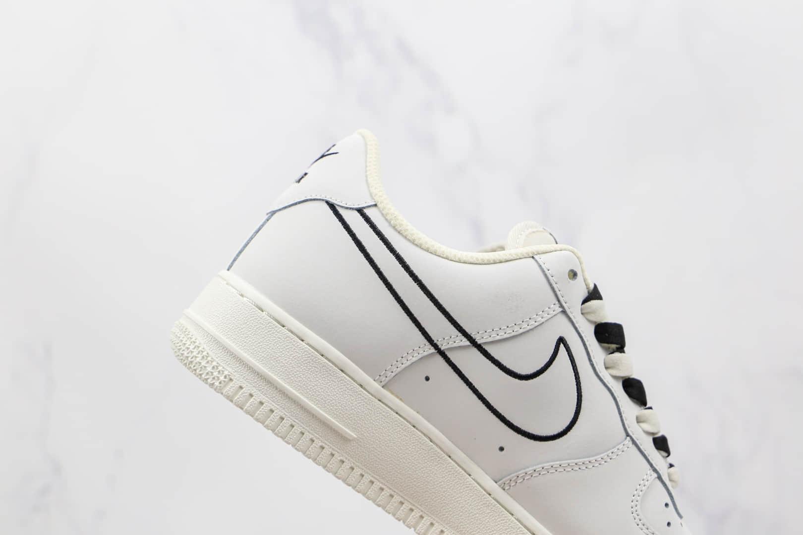 耐克Nike Air Force 1 Low纯原版本低帮空军一号白黑色板鞋内置气垫 货号:CL6326-158