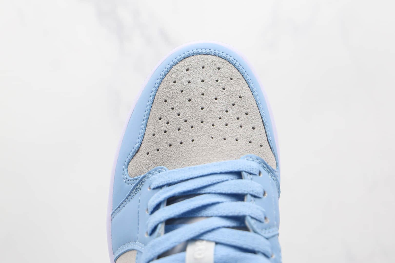 乔丹Air Jordan 1 Low纯原版本低帮AJ1灰蓝色大学蓝板鞋原楦头纸板打造 货号:DC0774-050