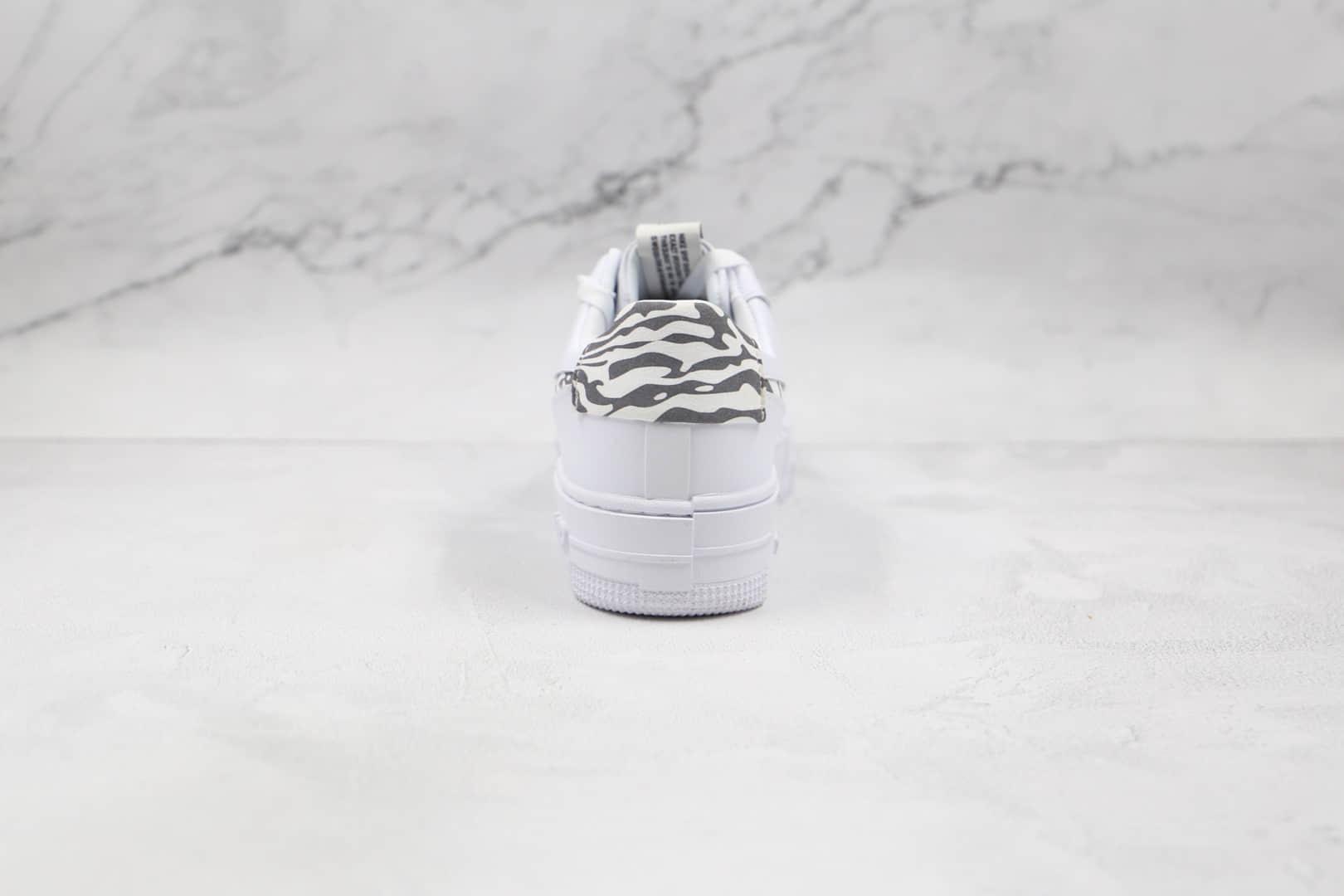 耐克Nike AIR FMRCE 1纯原版本低帮空军一号白色斑马纹解构板鞋原盒原标 货号:DH9632-100