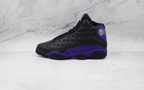 纯原版本乔丹AJ13黑紫色篮球鞋出货