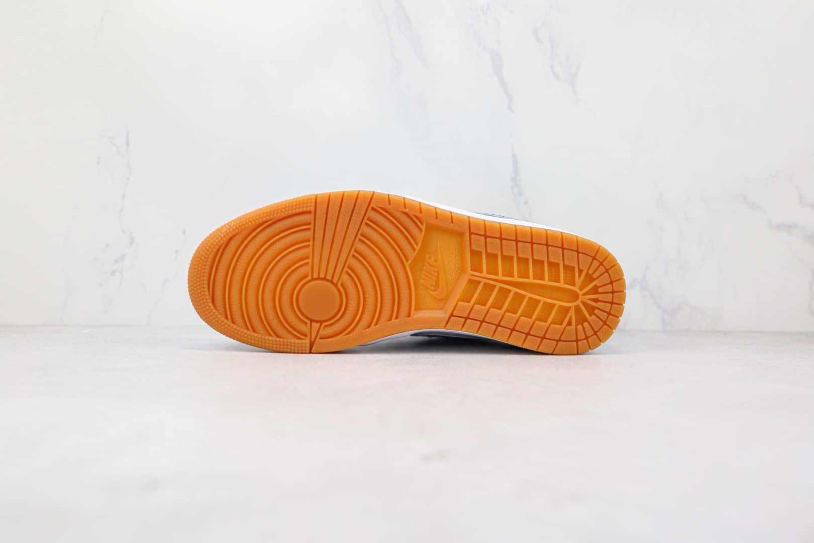 乔丹Air Jordan 1 Low纯原版本低帮AJ1蓝色漆皮板鞋原楦头纸板打造 货号:DC6991-400
