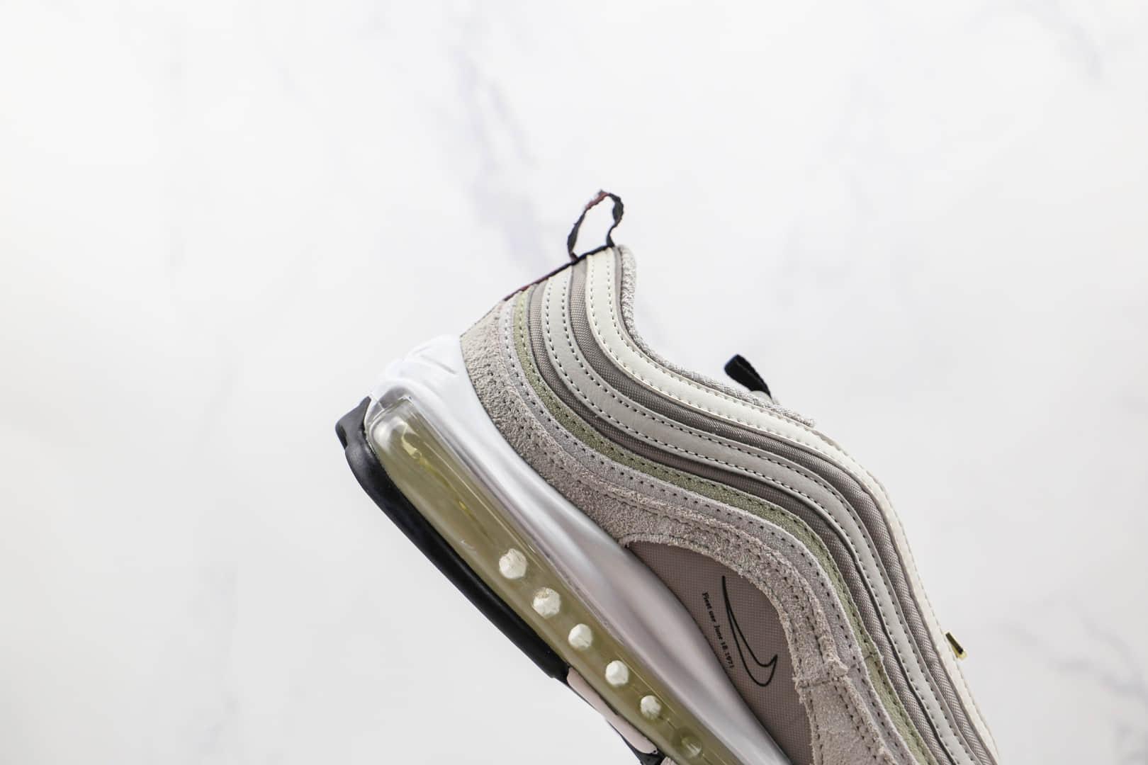 耐克Nike Air Max 97纯原版本子弹头Max97灰白色气垫鞋原楦头纸板打造 货号:DB0246-001