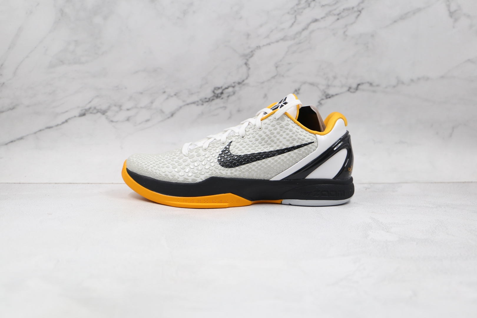 耐克Nike Kobe 6 Protro Del Sol纯原版本科比6代白黑黄色篮球鞋内置碳板气垫支持实战 货号:CW2190-100