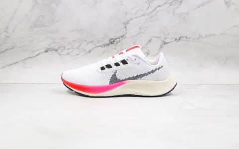 纯原版本耐克登月38代白粉色线条钩慢跑鞋出货