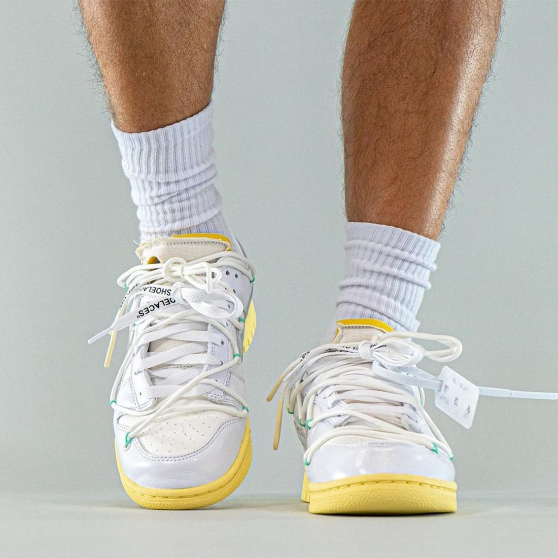 "OW x Nike Dunk ""The 50""编号01上脚图释出!想冲!"