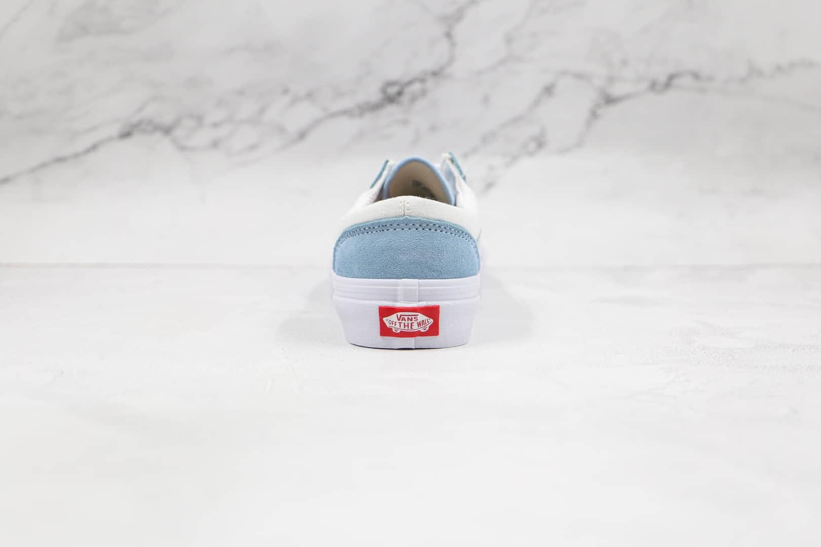 万斯Vans Style 36 Old Skool公司级版本低帮蓝色侧边条纹硫化帆布鞋原楦头纸板打造