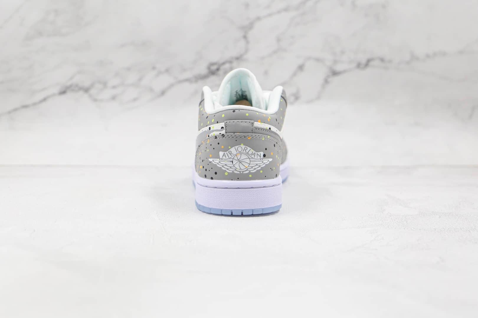 乔丹Air Jordan 1 Low纯原版本乔1篮球鞋低帮AJ1喷墨白灰原鞋开模 货号:DC0774-001