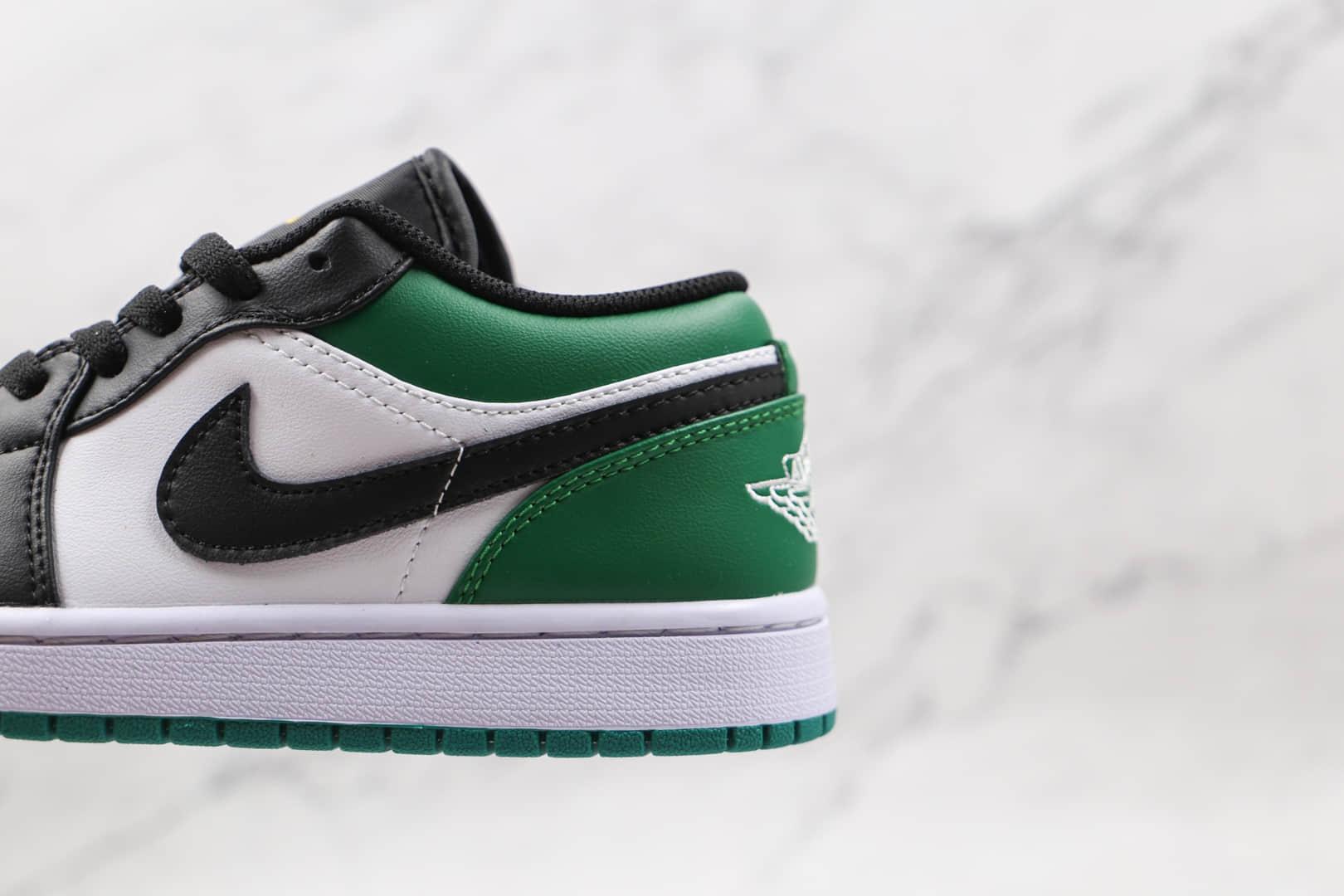 乔丹Air Jordan 1 Low Green Toe纯原版本低帮AJ1黑绿脚趾凯尔特人板鞋原档案数据开发 货号:553558-371